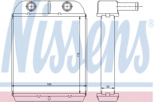 interior heating Nissens 77504 Heat Exchanger