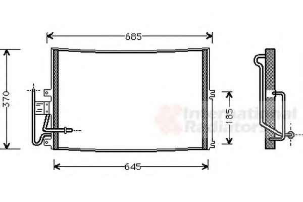 Van Wezel 37005274 Condenser air conditioning