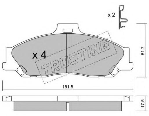 disc brake Japanparts PP-302AF Brake Pad Set