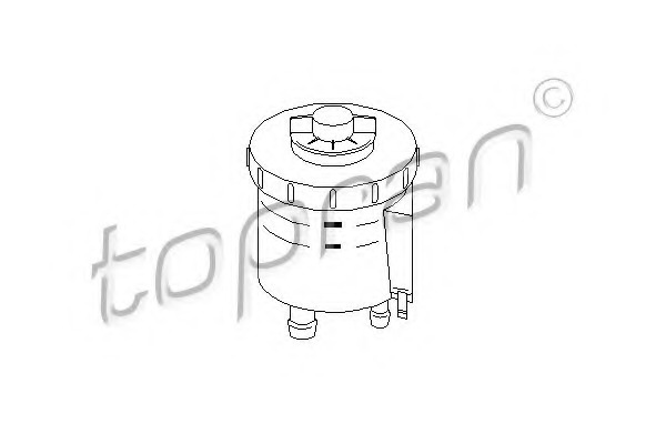 TOPRAN Expansion Tank power steering hydraulic oil 110 978