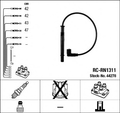 NGK 44278 Juego de cables de encendido