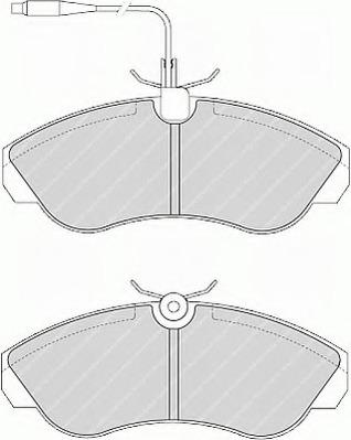 disc brake set of 4 Ferodo FVR968 Brake Pad Set