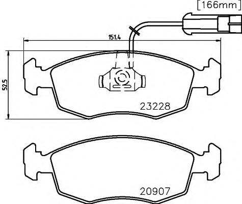 Brake Pads Fiat Palio 178 Parts