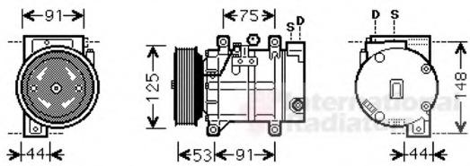 ac compressor - nissan x-trail  t30