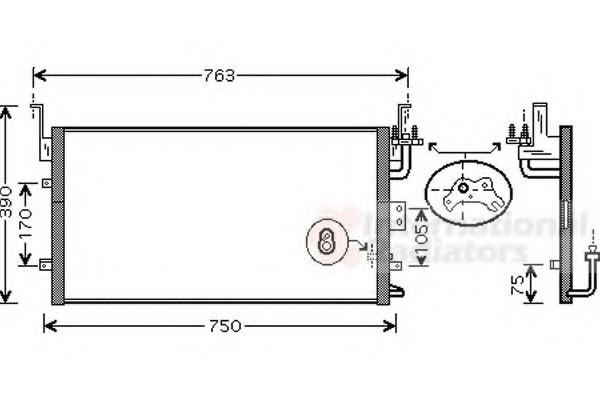 Engine & Engine Parts Van Wezel 82005135 Condenser AC & Interior Heating Air Conditioning