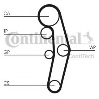 Contitech CT1028K3 Timing Belt Kit