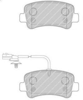 FVR4348 BRAKE PAD SET, DISC BRAKE FERODO PREMIER ECO FRICT