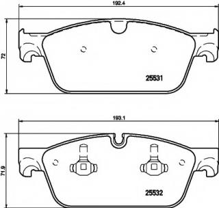 Brake pads for MERCEDES-BENZ GLE (W166) AMG 63 4-matic