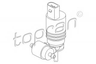 Klaasipesuvee pump, klaasipuhastus TOPRAN 107 819