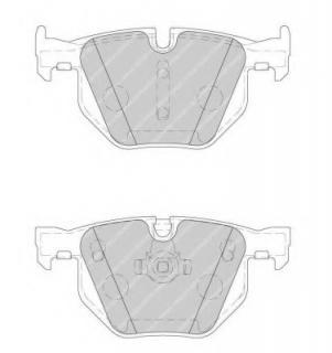 disc brake set of 4 Ferodo FDB1748 Brake Pad Set