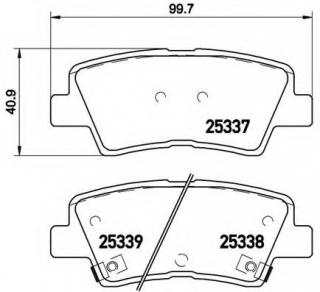 BluePrint  ADG042138  BRAKE PADS