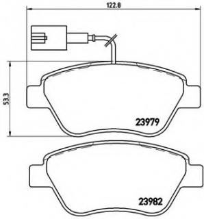 Brembo P23108 Front Disc Brake Pad Set of 4