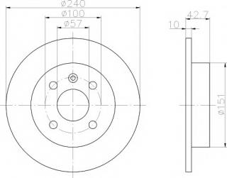 Mintex Rear Brake Discs MDC1051