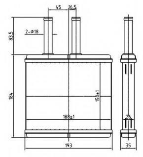 Heater for CHEVROLET LOVA Saloon (T250, T255) 1.2 62kW ... on
