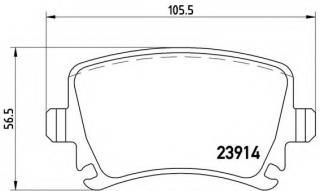 MDB2580 MINTEX Brake Pad Set disc brake rear