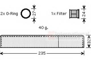 Dryer, air conditioning VAN WEZEL 5300D349 for TOYOTA YARIS