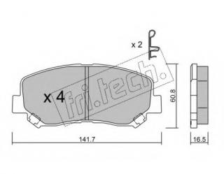Wear Warning Contact Front Brake Pads Fits Akebono System Incl Mintex MDB3292