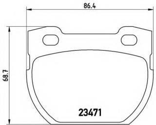 Rear Brake Pads for Land Rover Defender 110 130 OE FERODO SFP000250