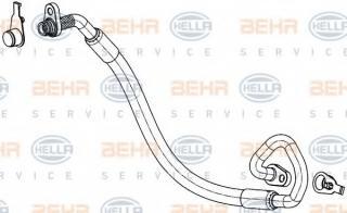 air conditioning BEHR HELLA SERVICE 9GS 351 337-771 HELLA High Pressure Line
