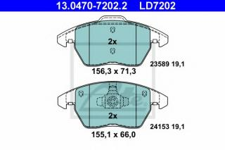 set of 4 disc brake Ferodo FDB1440 Brake Pad Set