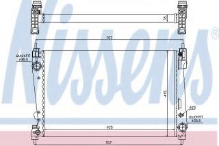 radiator, engine cooling nissens 61916