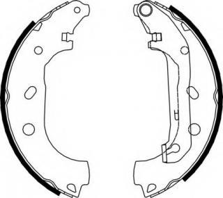 MFR525 MINTEX Brake Shoe Set rear