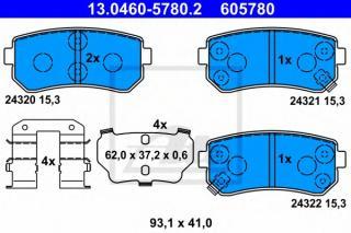 disc brake Japanparts PP-K09AF Brake Pad Set