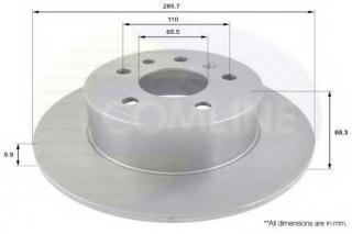 REAR BRAKE DISCS FOR SAAB NBD770