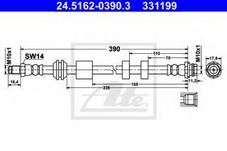 MEYLE Brake Hose MEYLE-ORIGINAL Quality 714 525 0048
