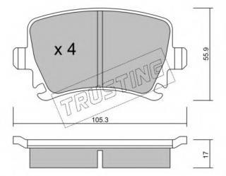 FOR AUDI SEAT SKODA VW BREMBO GENUINE BRAKE PADS PAD SET REAR AXLE P85095