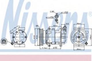 Kompressor, kliimaseade NISSENS 89332