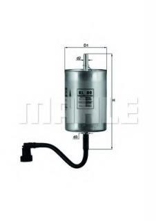 MAHLE Original KL 80 Fuel Filter