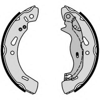HELLA PAGID 8DZ 355 201-031 Accessory Kit Rear Axle brake shoes