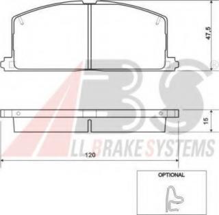 QH BP335 Brake Pad Set