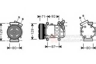 Compresseur, climatisation VAN WEZEL 4300K401